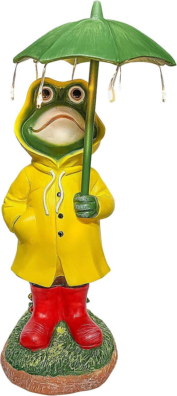 Halloween Garden Sculptures Choice Frog Holding Slicke Rain an Max 43% OFF Umbrella