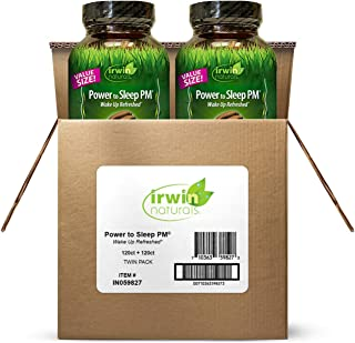 Irwin Naturals Power to Sleep PM - Relaxing Blend of Melatonin, GABA, Ashwagandha, Valerian, L-Theanine & More - Calm Mind...