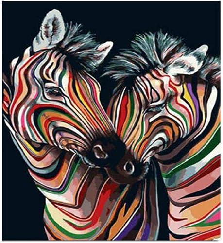 Centro comercial profesional integrado en línea. Jjyyh Pintura Pintura Pintura por Números Cebra De Colors 80X100Cm DIY Preimpreso Lienzo Regalo De Pintura Al óleo para Adultos Niños Pintura por Número Kits para La Decoración Casera  precios razonables