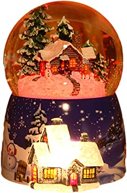 Glitterdomes Snow Globe Christmas Santa Decoration Music Glitterdome Musical Christmas Water Lantern Snow Globe Train Lantern