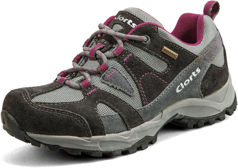 Clorts Women's Suede Leather Waterproof Outdoor Sport Hiking Treeking shoes HKL828