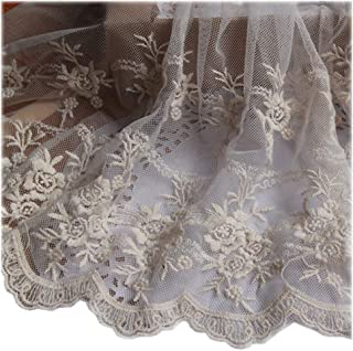 c2984576de Beautiful By Design Beige 4 1 2 Yards Retro Floral Embroidered Mesh Lace  Dress Edge