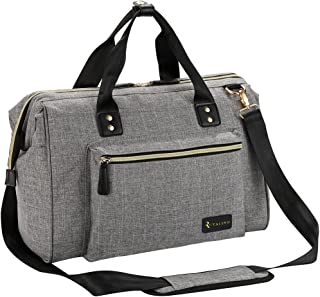 Diaper Bag, RUVALINO Large Diaper Tote Stylish for Mom and Dad Convertible Travel Baby..