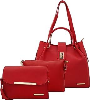 Lapis O Lupo Women's Handbag (LLHB0040RD_Red)