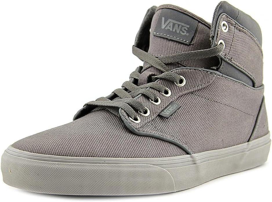 Amazon.com | Vans Atwood Hi Men Round Toe Canvas Gray Skate Shoe ...