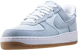 Nike Mens Air Force 1 Low LT Armory Blue/Lt Armory Blue/White/Gum Lt Brown Leather Basketball Shoes 12 M US