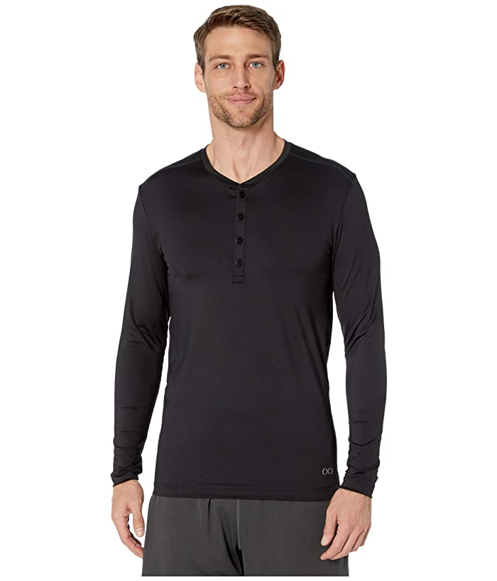 2(X)IST  Sterling Speed Dri Long Sleeve Henley (Black) Mens Clothing