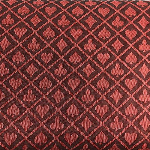 Yuanhe 274 x 152 cm Zweifarbige Poker-Tischdecke (rot)