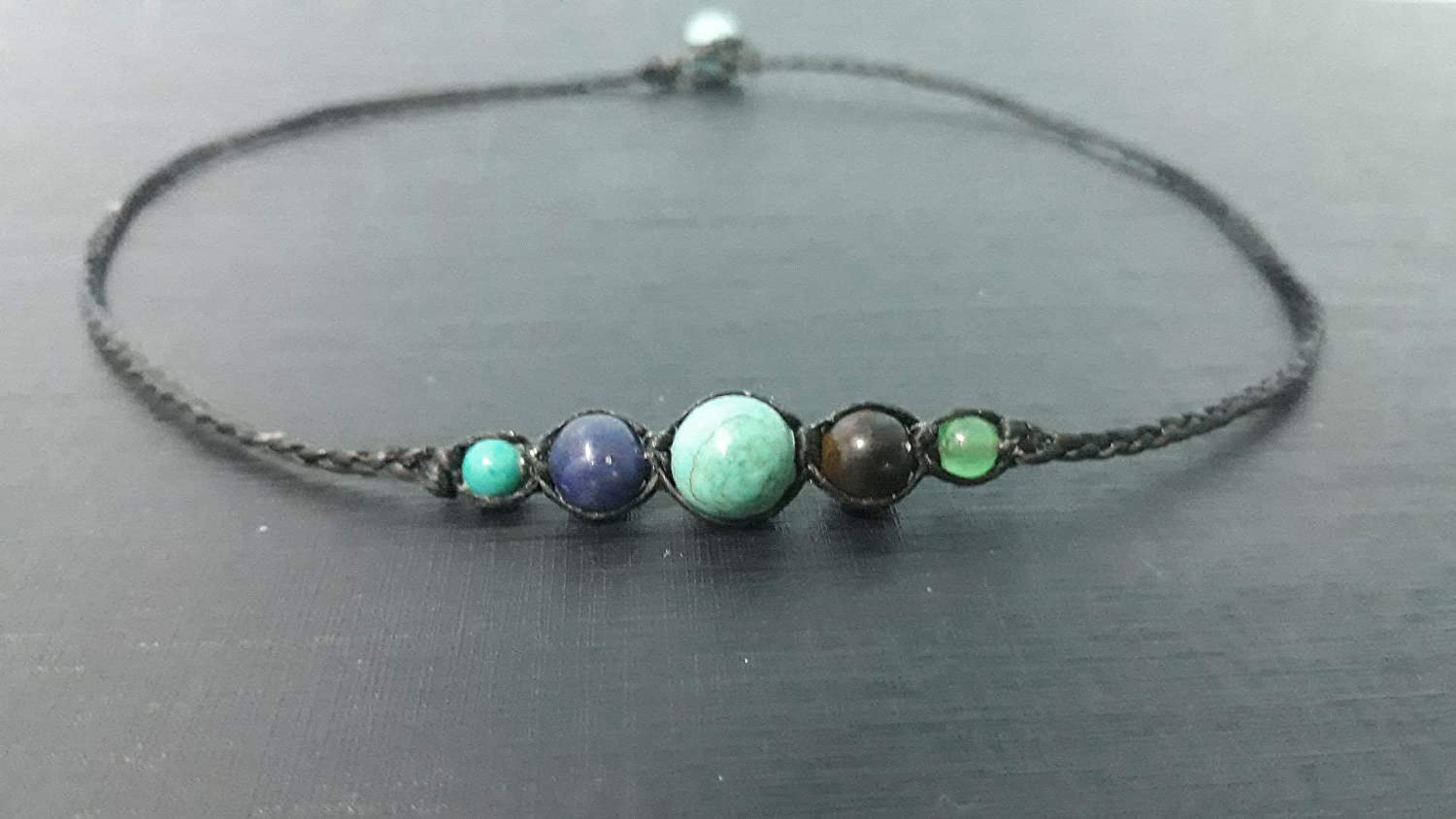 Turquoise lapis Tiger eye Jade stone Choker for Max 69% OFF Men an Max 66% OFF necklaces