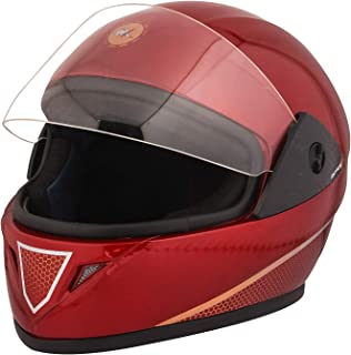 STARVIN RHHYN@X FULL FACE HELMET || RED COLOR || Medium Size || ISI APPROVED || WITH HYDROGRAPHICS || Unbreakable PC Visor with Double Layer Silicon Hardcore Coating || Scratch Resistant || MODEL- JETTY