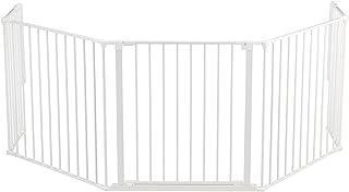 BabyDan Hearth Gate / Configure (90-278cm extra grande, blanco)