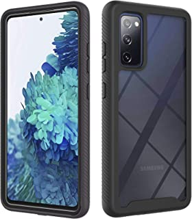 SOGCASE Case for Samsung Galaxy S20 FE 5G, (Superguard Series) Dual Layer Shockproof Bumper Case [Without Built-in Screen Protector], Clear Hard PC Anti-Scratch Cover(Black)
