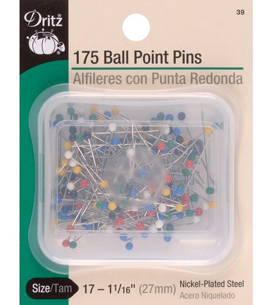 Dritz(R) Ball Point Pins Multi Color 1-1/16 Inch 175/Pkg