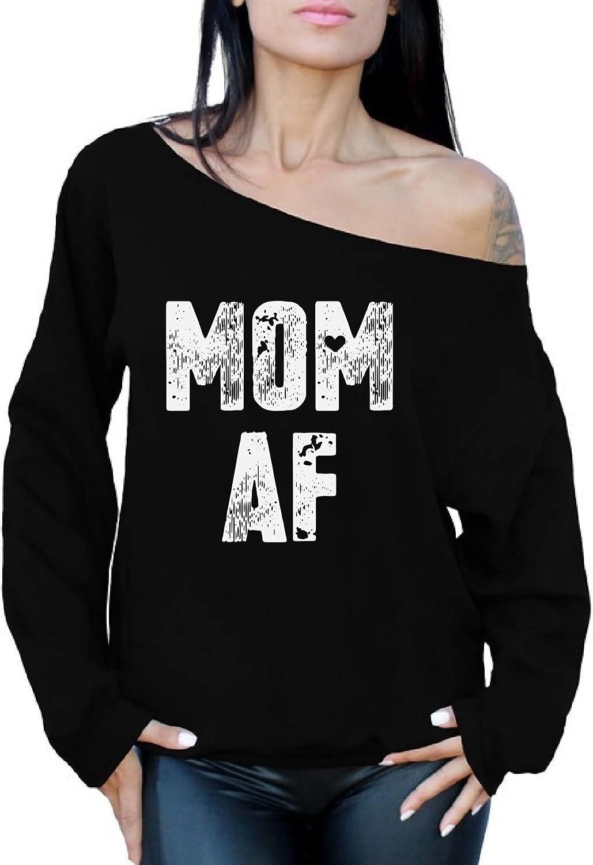 Awkward Styles Mom AF Off Shoulder Sweatshirt Mother's Day Oversized Sweater