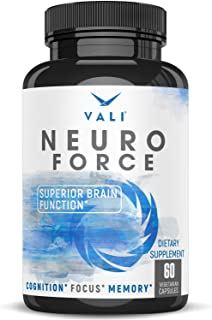 Brain Booster Supplement for Focus, Memory, Clarity & Energy - 60 Veggie Pills. Extra Strength Cognitive Function Support ...