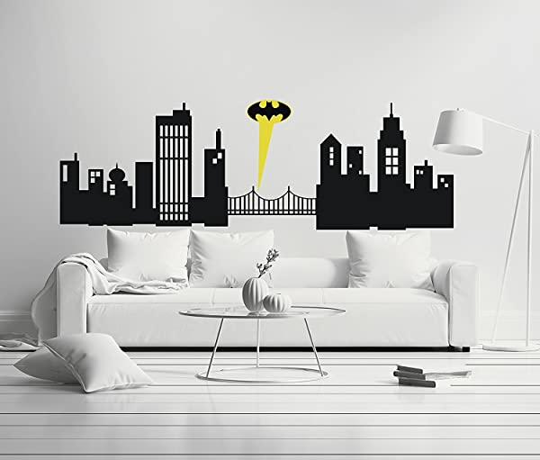 Gotham City Boy Girl Room Mural Wall Decal Sticker For Home Car Laptop Wide 40 X 13 Height