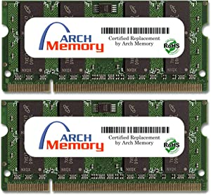 Arch Memory 4 GB (2 x 2 GB) 200-Pin DDR2 So-dimm RAM for Dell Latitude D620 Core Duo 1.66 GHz
