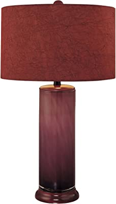 Amazon Com Minka Lavery 10865 2 Ambience Table Lamp 1 Light 150 Watts Purple Home Improvement