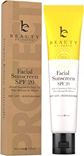 Face Sunscreen SPF 20 - Mineral Sunscreen Face, Reef Safe Sunscreen With Natural & Organic Ingredients, Biodegradable Suns...