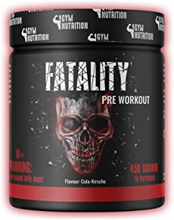 FATALITY - Ultra Hardcore Booster Pre workout - Pulver - 2020 USA Matrix - ATP  L-Arginin  Citrullin  Beta Alanin  Koffein 450g Cola Kirsche Geschmack