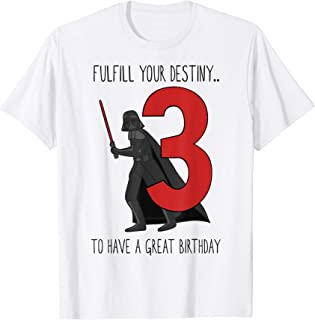 Star Wars Vader Third Birthday Fulfillment T-Shirt