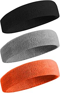 BEACE Sweatbands Sports Headband/Wristband for Men &...