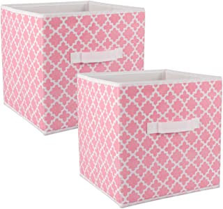 Pink Round Design Hear /& Home Collection Storage Boxes Set Of 2