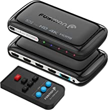 Fosmon 4-Port 4Kx2K HDMI Switch with PIP & Remote Control [Enhanced Stability PC Board], 4K@30Hz 3D 1080p UHD 10.2Gbps ARC HDMI Switcher Splitter for Apple TV, Fire Stick, HDTV, PS4, Xbox, PC & More