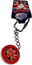 Union Jack Telephone Box Keychain - Spinning Metal Red Keyring/Key Chain Ring England UK British Souvenir