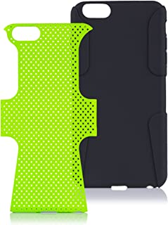 iCues Case Compatible with Apple iPhone 6/6S + Plus (5.5 Inch) 2 Part Air Green [Screen Protector] Heavy Duty Hard Cover shookproof Protection Shell Tough Military Protective Boys lifeproof Men