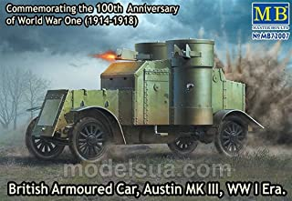 Master Box Models 1/72 British Armoured Car Austin Mk.III WWI Era Vehicle Kit