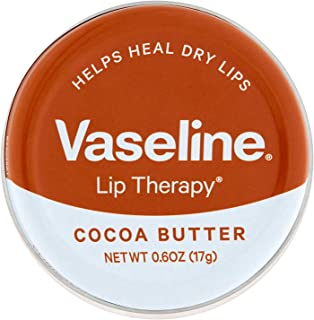 Vaseline Lip Therapy Cocoa Butter Lip Balm Tin, 0.6 Ounce - 12 per case.