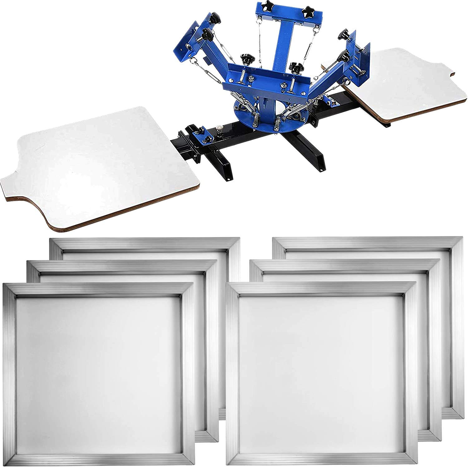 VEVOR 4 Be super welcome Color 2 Station Screen-Print Popular products + 6 Press 18 Machine Pieces