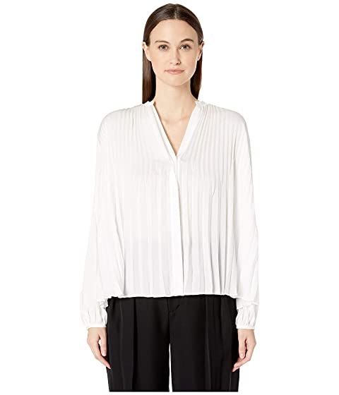 59d8dfebbee6f Vince Chevron Pleated Blouse at Luxury.Zappos.com