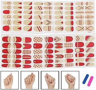 Pegatinas De Esmalte De Uñas Envolturas Completas Tiras De Brillo Autoadhesivas Manicura Diseños De Uñas 3D Para Mujeres Niñas Creativas Y Útiles 16 Hojas 192 Piezas
