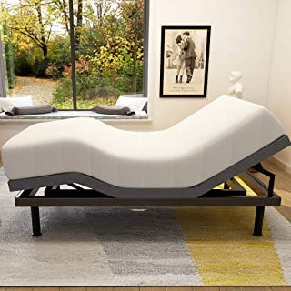 Adjustable Bed Base Frame Smart Electric Beds Foundation (Twin XL, Gray)
