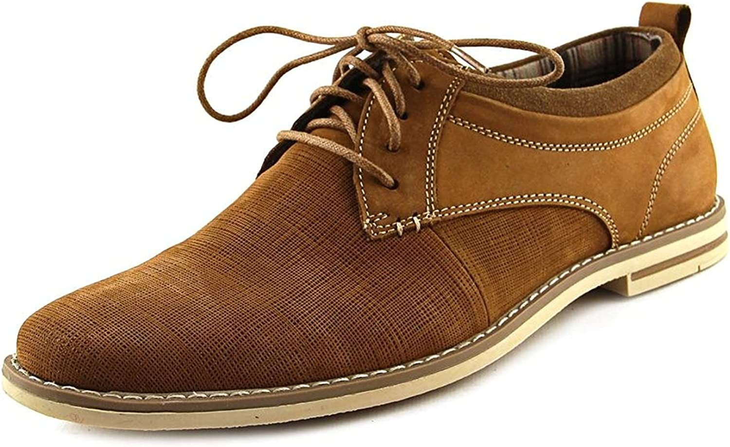 Steve Madden Mens P-Geraro Leather Lace Up Dress Oxfords, Tan Leather, Size 11.0