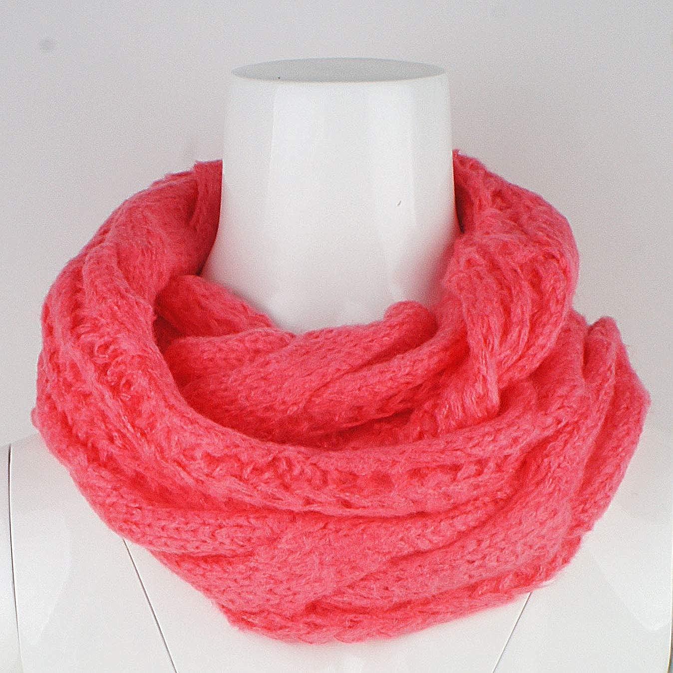 VIVIAN /& VINCENT Womens Thick Ribbed Knit Winter Infinity Circle Loop Scarf