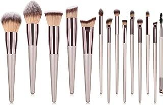 Makeup Brushes Set 14 Pieces Cosmetics Professional Face Powder Foundation Blush Eyeshadow Makeup Brush Kit (Gold)
