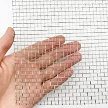 Stainless Steel Woven Wire Mesh Roll, Metal Mesh Sheet, Window Screen Mesh - 5 Mesh 12