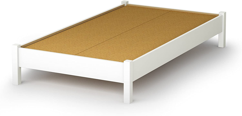 Shore Furniture Sandbox Collection, Twin Platform Bed, Pure White 39
