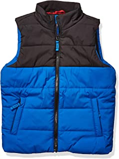 Amazon Essentials Heavy-Weight Puffer Vest Down-Outerwear-Vests, Cobalt Color Block, XS