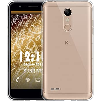 Sunrive Funda para LG K11, Silicona Slim Fit Gel Transparente ...