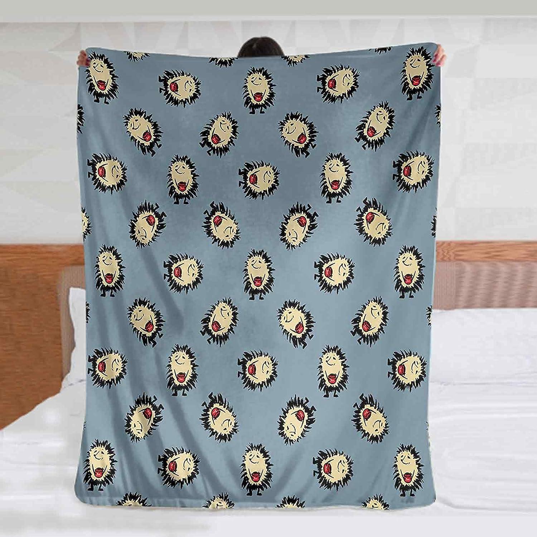2021new shipping free Hedgehog Fleece Blanket 60