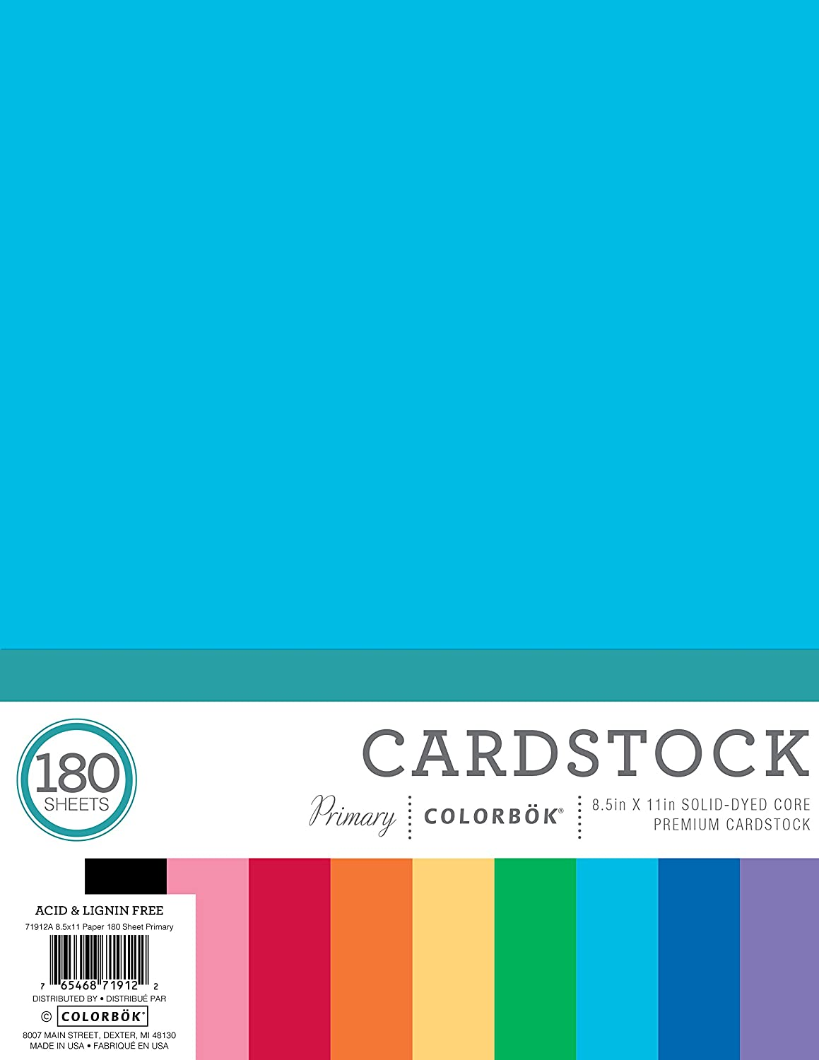 Free shipping anywhere in the nation Seasonal Wrap Introduction Colorbok Primary Cardstock Pad Mega Paper 180 x 8.5