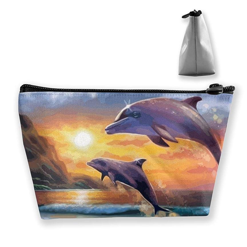 衝動ハード否定するSzsgqkj イルカ 化粧品袋の携帯用旅行構造の袋の洗面用品の主催者