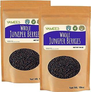 Yamees Juniper Berries – 20 Oz. (10 oz. each) - Juniper Berries for Cooking – Whole Juniper Berries - Bulk Spices - Junipe...