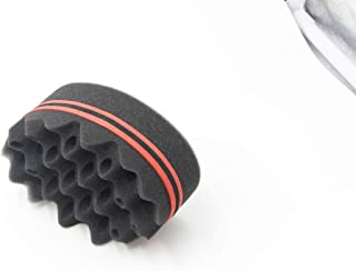 Parabirds Curl Twist Hair Sponge Big Holes Brush Double-Sided Comb for Afro Hair Pick