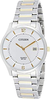 Citizen Mens Quartz Watch, Analog Display and Stainless Steel Strap - BD0048-80A