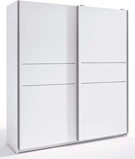 Miroytengo Armario Siena Color Blanco 2 Puertas correderas habitación Dormitorio Matrimonio 201x182x56 cm